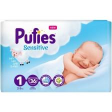 Детски пелени Pufies - Sensitive, Newborn 1, 36 броя -1