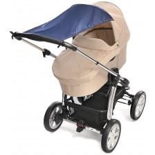 Сенник за бебешка количка Reer - Син -1