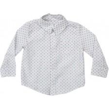 Риза Zinc - Бяла с бордо драски, 92 cm -1
