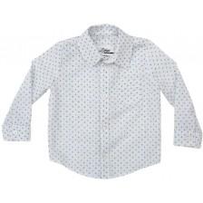 Риза Zinc - Бяла със сини драски, 92 cm -1