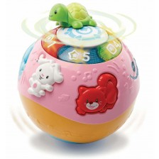Детска играчка Vtech - Топка с животни, розова -1