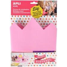 Творчески комплект APLI - Декорирай сам розова корона -1