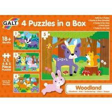 Пъзел Galt Toys 4 в 1 - Горски свят -1