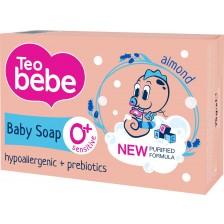 Сапун Teo Bebe - Бадемово масло и пребиотик, 75 g -1