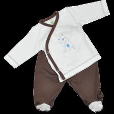 Сет камизолка и ританки For Babies - Мече, 0-1 месеца -1