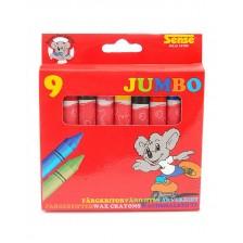 Цветни пастели Sense – Jumbo, 9 броя -1