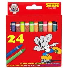 Цветни пастели Sense – 24 броя -1