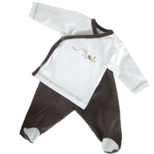 Сет камизолка и ританки For Babies - Таралеж, 0-1 месеца -1