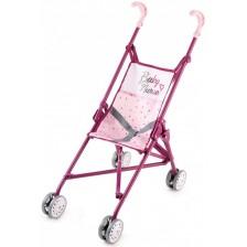 Сгъваема количка за кукли Smoby, розова -1