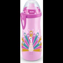 Шише Nuk - Sports Cup, Chameleon, 450 ml, розово -1