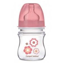 Шише антиколик Canpol - Newborn Baby, 120 ml, розово