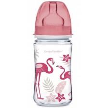 Шише антиколик Canpol - Easy Start Jungle, 240 ml, розово