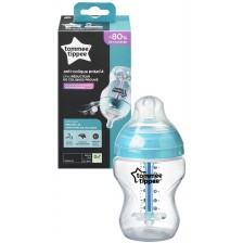 Бебешко шише Tommee Tippee Advanced Anti-Colic - 260 ml, с биберон 1 капка -1