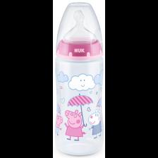 Шише Nuk - First Choice, Peppa Girl, TC, 300 ml -1