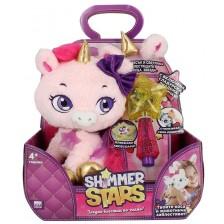 Плюшена играчка Shimmer Stars - Еднорог Блясъчка, с аксесоари -1