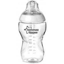 Бебешко шише Tommee Tippee Easi Vent - 340 ml, с биберон 2 капки -1