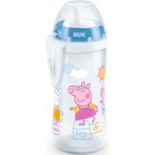 Шише Nuk - Kiddy Cup, Peppa, с твърд накрайник, 300 ml -1