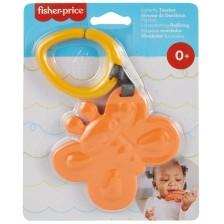 Силиконова залъгалка Fisher Price - Пеперудка, оранжева -1