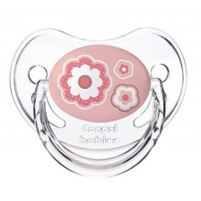Силиконова залъгалка Canpol Newborn Baby - 6-18 месеца, розова -1