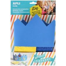 Творчески комплект APLI - Декорирай сам синя корона -1