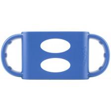 Силиконови дръжки Dr. Brown`s - За шишета, сини -1