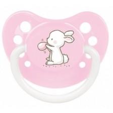 Силиконова залъгалка Canpol Little Cutie - 6-18 месеца, розова -1