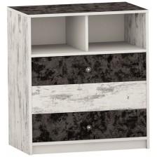 Скрин с 3 чекмеджета Arbor - №7, 90 х 82 х 50 cm, черно и сив антик -1