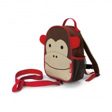 Детска мини раница Skip Hop Zoo - Маймунката Маршъл -1