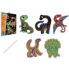 Скреч карти Janod - Динозаври -1