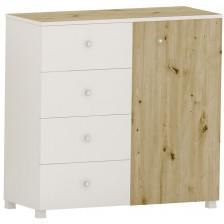Скрин с 4 чекмеджета Arbor - №11, 97 х 100 х 40 cm, артизан и бяло -1