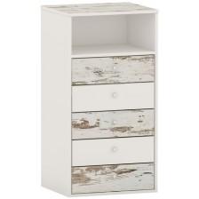 Скрин Arbor - №6, 115 х 60 х 50 cm, кафяв антик и бяло -1