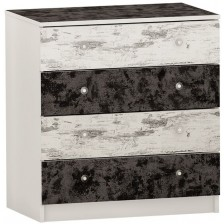 Скрин с 4 чекмеджета Arbor - №10, 86 х 82 х 50 cm, черен и сив антик -1