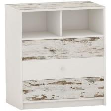 Скрин с 3 чекмеджета Arbor - №7, 90 х 82 х 50 cm, кафяв антик и бяло -1