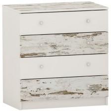 Скрин с 4 чекмеджета Arbor - №10, 86 х 82 х 50 cm, кафяв антик и бяло -1