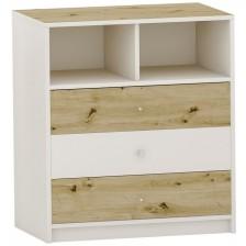 Скрин с 3 чекмеджета Arbor - №7, 90 х 82 х 50 cm, артизан и бяло -1