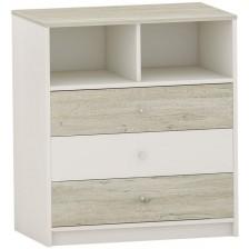 Скрин с 3 чекмеджета Arbor - №7, 90 х 82 х 50 cm, дъб гоби и бяло -1