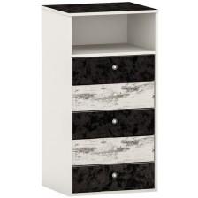 Скрин Arbor - №6, 115 х 60 х 50 cm, черен и сив антик -1