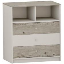 Скрин с 3 чекмеджета Arbor - №7, 90 х 82 х 50 cm, хималайски дъб и бяло -1