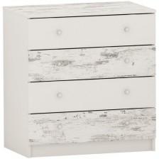Скрин с 4 чекмеджета Arbor - №10, 86 х 82 х 50 cm, сив антик и бяло -1
