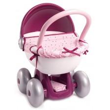 Количка за кукли Smoby Baby Nurse - Розова -1