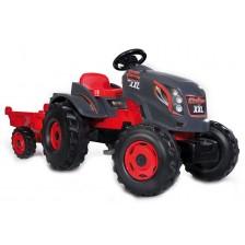 Детски трактор с педали Smoby - Tractor Stronger XXL, с ремарке -1