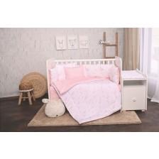 Спален комплект Lorelli - Лили, Розови луни и звезди, 60 х 120 cm -1