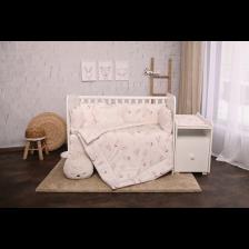 Спален комплект Lorelli - Тренд, Екрю зайчета, ранфорс -1
