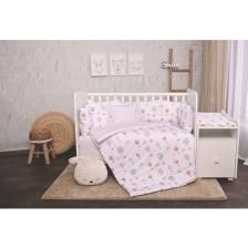 Спален комплект Lorelli - Лили, Сиви балони, 60 х 120 cm -1