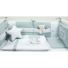 Спален комплект Bambino Casa - Paris, Mint, 8 части -1