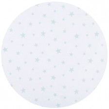 Спален комплект за мини кошара Chipolino - Звезди, мента -1