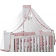 Спален комплект Bambino Casa - Paris, Rosa, 8 части -1