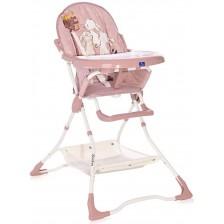 Столче за хранене Lorelli – Bonbon Beige, розово