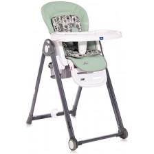 Столче за хранене Lorelli - Party, Frosty Green Leather