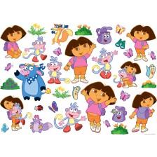 Стенна декорация Nickelodeon - Дора изследователката, 35 стикера -1